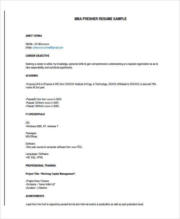 graduate fresher resume templates pdf free premium template for fresh without experience Resume Resume Template For Fresh Graduate Without Experience