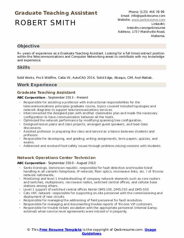 graduate teaching assistant resume samples qwikresume job description pdf chef examples Resume Graduate Teaching Assistant Job Description Resume