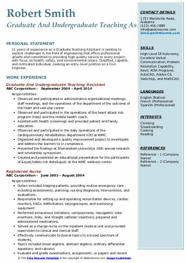 graduate teaching assistant resume samples qwikresume job description pdf spelling accent Resume Graduate Teaching Assistant Job Description Resume