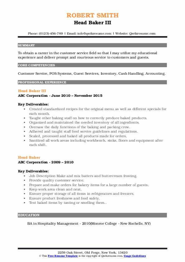 head resume samples qwikresume job duties for pdf oracle database architect another word Resume Baker Job Duties For Resume