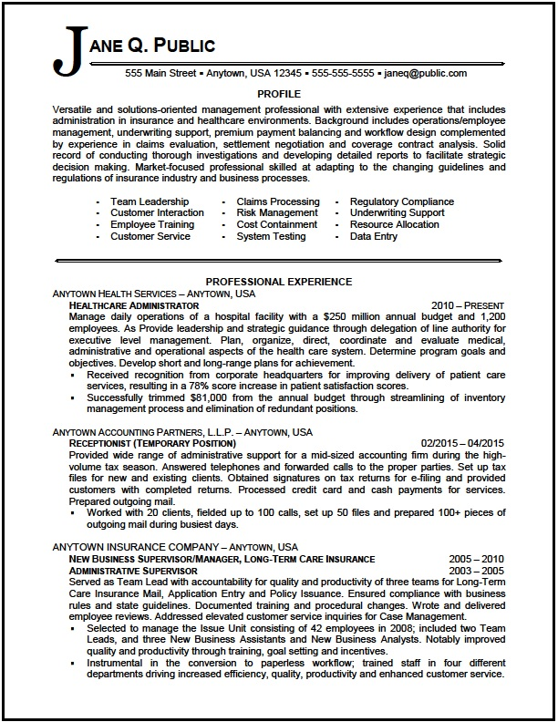 healthcare administrator resume sample the clinic hospital administrator01 react for mba Resume Hospital Administrator Resume