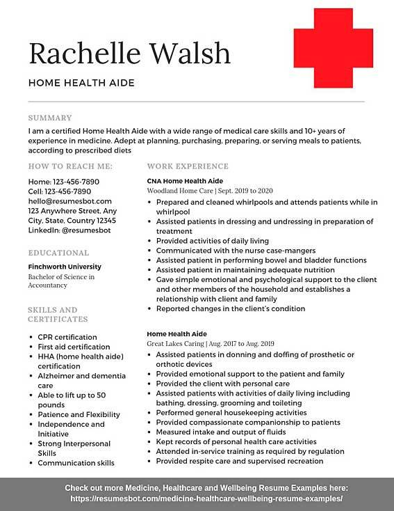 home health aide resume samples templates pdf resumes bot example academic librarian Resume Home Health Aide Resume