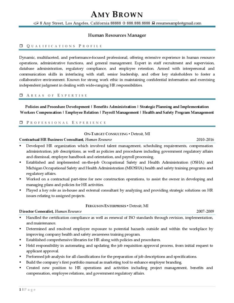 human resources manager resume examples best templates sample 791x1024 nerd styles entry Resume Human Resources Manager Resume Sample