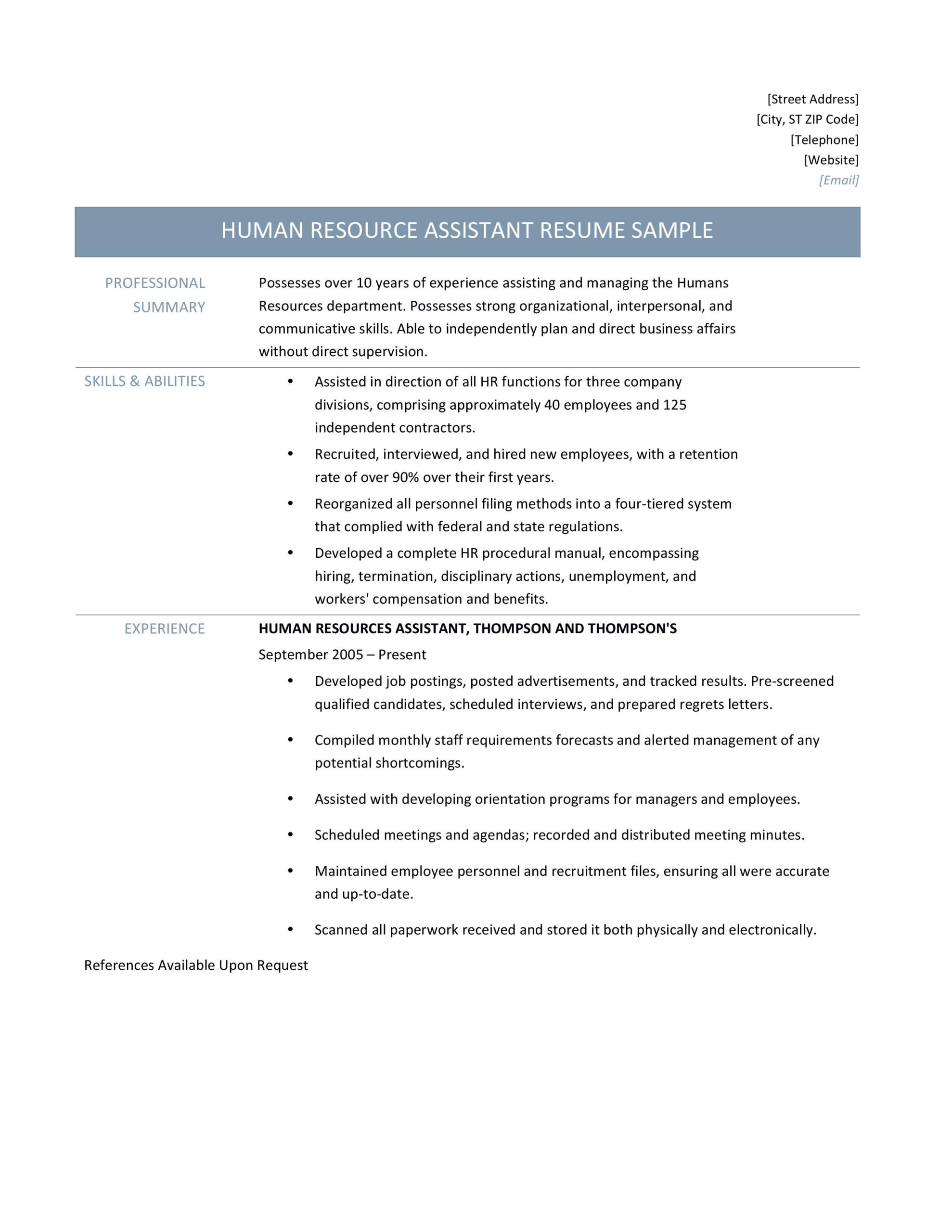 human resources manager resume samples tips and templates by builders medium sample Resume Human Resources Manager Resume Sample