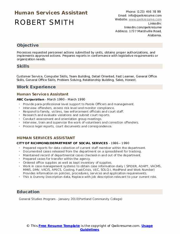 human services assistant resume samples qwikresume with no experience pdf document Resume Human Services Resume With No Experience
