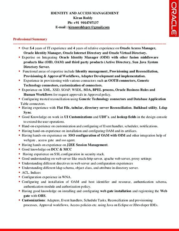 identity and access management resume sample template hard to find inspiration for tips Resume Oracle Identity Manager Resume