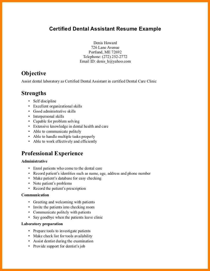 image result for resume dental assistant entry level hygienist medical examples with no Resume Dental Assistant Resume Examples With No Experience