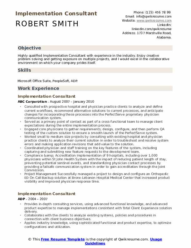 implementation consultant resume samples qwikresume skills for consulting pdf writing Resume Skills For Consulting Resume