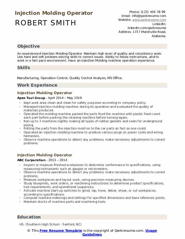 injection molding operator resume samples qwikresume pdf driller example if you didn Resume Injection Molding Resume