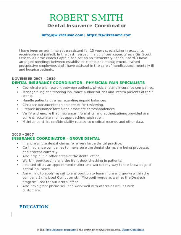 insurance coordinator resume samples qwikresume medical job description for pdf and Resume Medical Insurance Coordinator Job Description For Resume