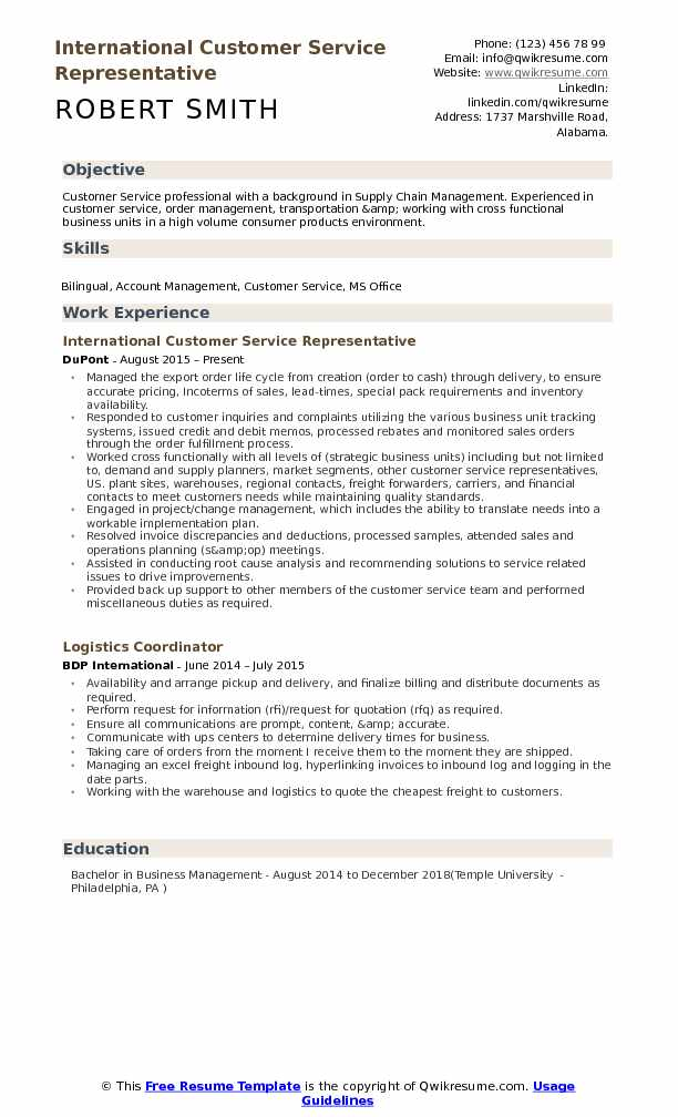 international customer service representative resume samples qwikresume skills pdf best Resume Customer Service Representative Skills Resume