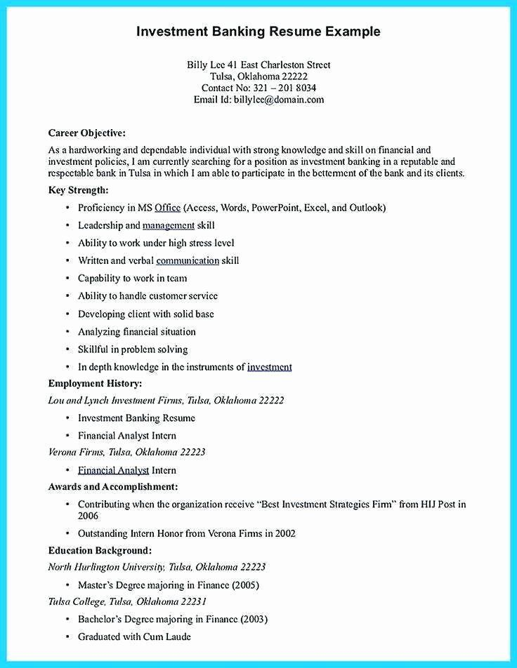 investment banking resume template luxury personal investing on good objective for Resume Banking Resume Objective