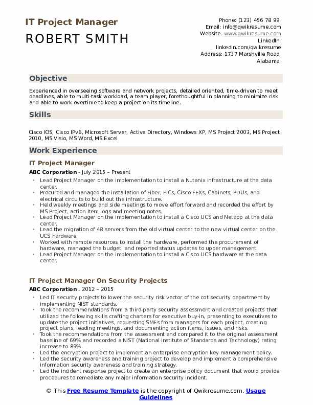 it project manager resume samples qwikresume examples pdf employment history file Resume Project Manager Resume Examples