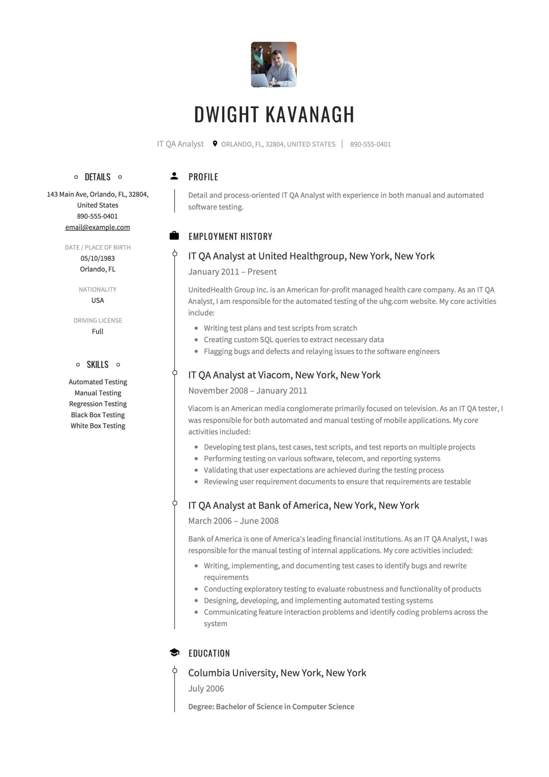 it qa analyst resume guide templates pdf tester with years experience sample mcse first Resume Qa Tester Resume With 5 Years Experience