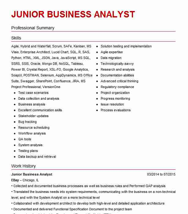 junior business analyst resume example harley temple barack obama daycare provider skills Resume Junior Business Analyst Resume