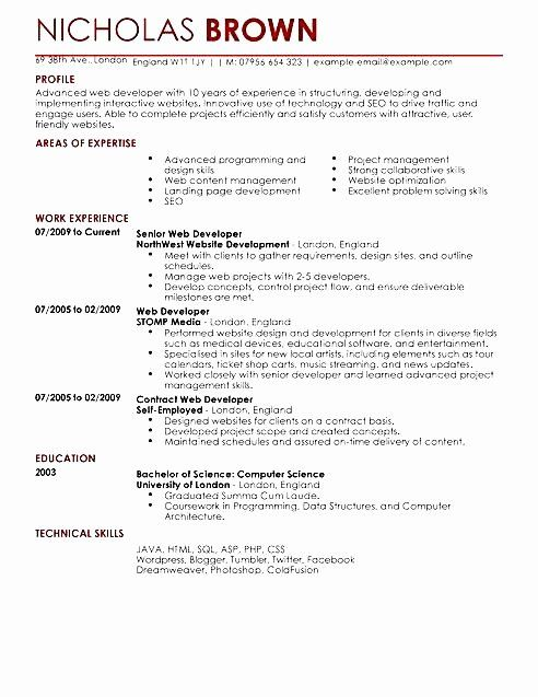 junior software developer resume awesome web template cv designer development examples Resume Web Developer Resume Examples