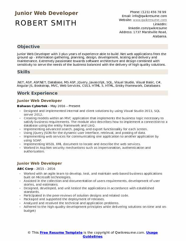 junior web developer resume samples qwikresume examples pdf quick builder healthcare Resume Web Developer Resume Examples