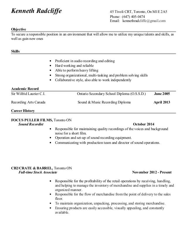 ken radcliffe good copy resume of radcliffes keywords for building writing services Resume Copy Of A Good Resume