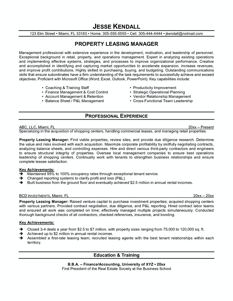 leasing manager resume agent sample objective for automotive service technician med surg Resume Leasing Agent Resume Sample