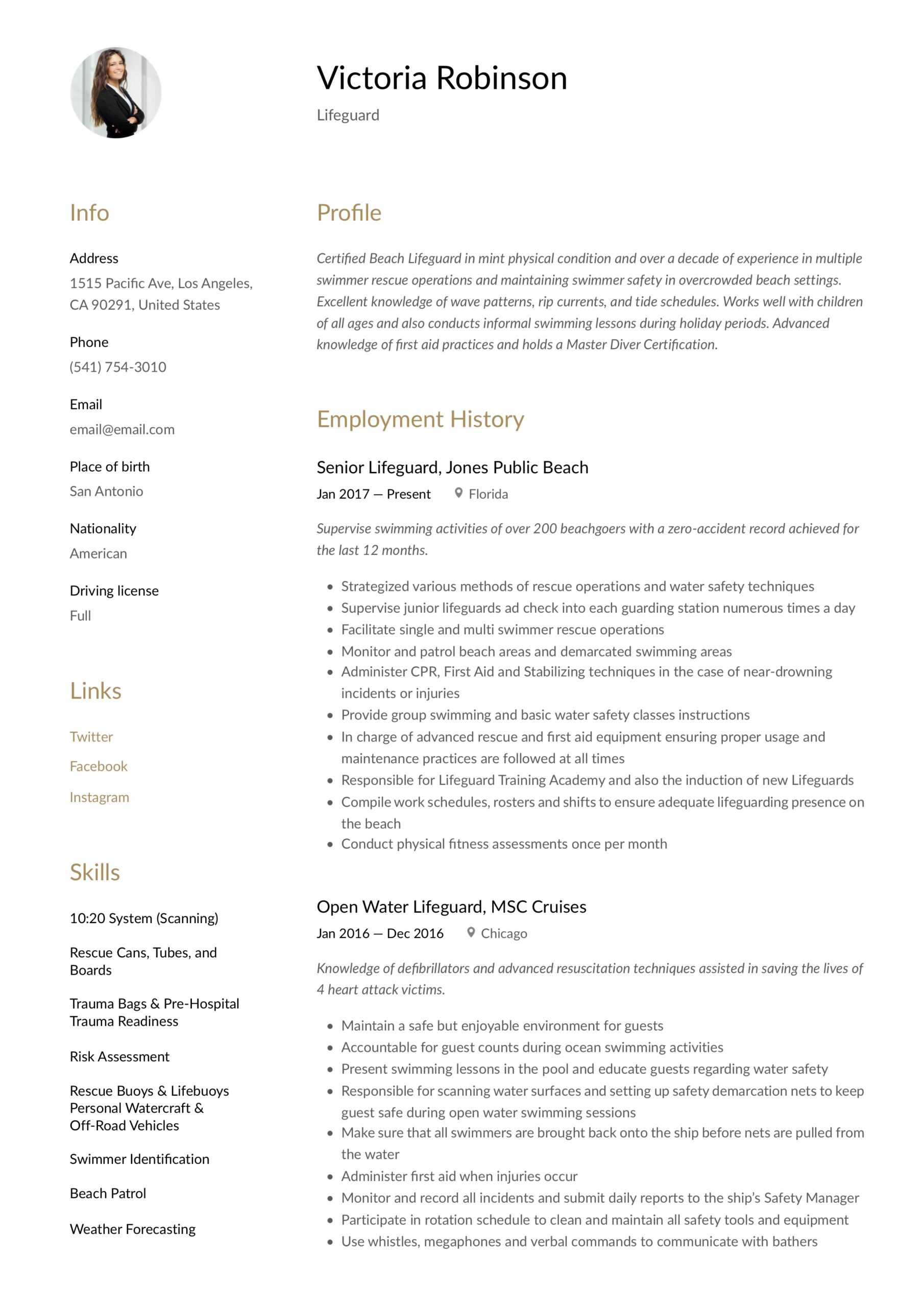 lifeguard resume writing guide templates skills for as400 developer server duties and Resume Lifeguard Skills For Resume