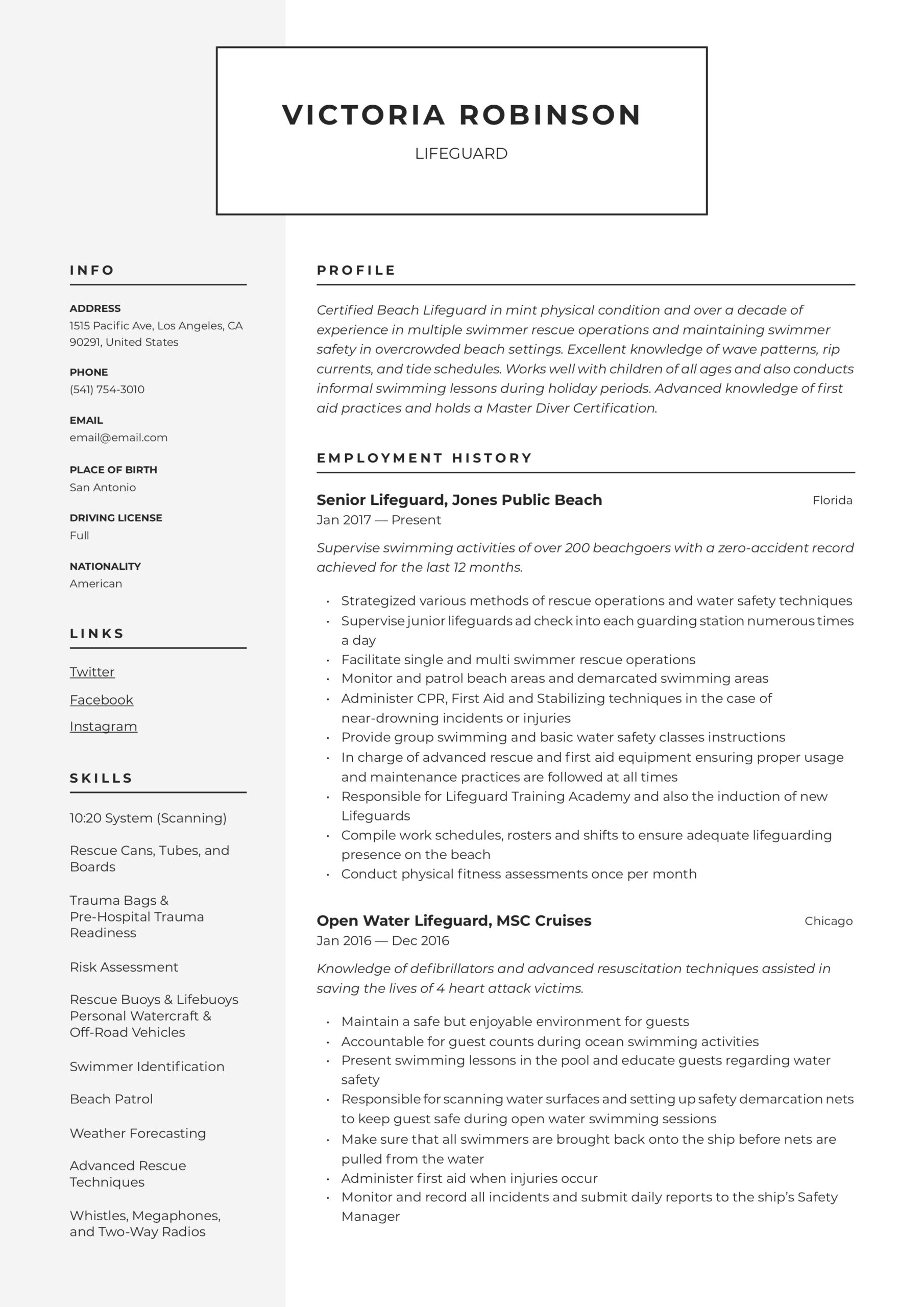 lifeguard resume writing guide templates skills for content reviewer sample score Resume Lifeguard Skills For Resume