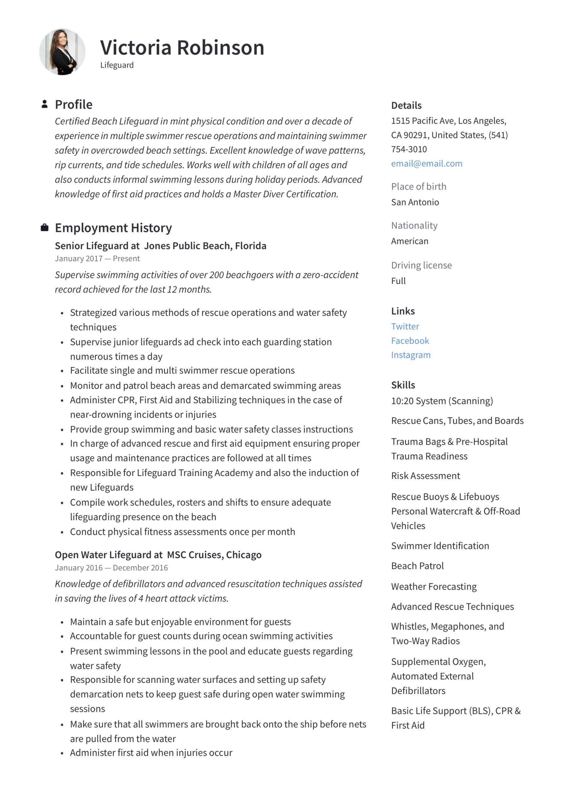 lifeguard resume writing guide templates skills for good summary administrative assistant Resume Lifeguard Skills For Resume