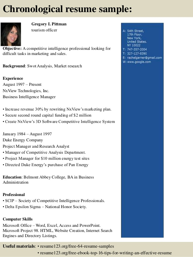linux resume travel and tourism examples mechanical engineering student internship Resume Sample Resume Objective For Tourism Students