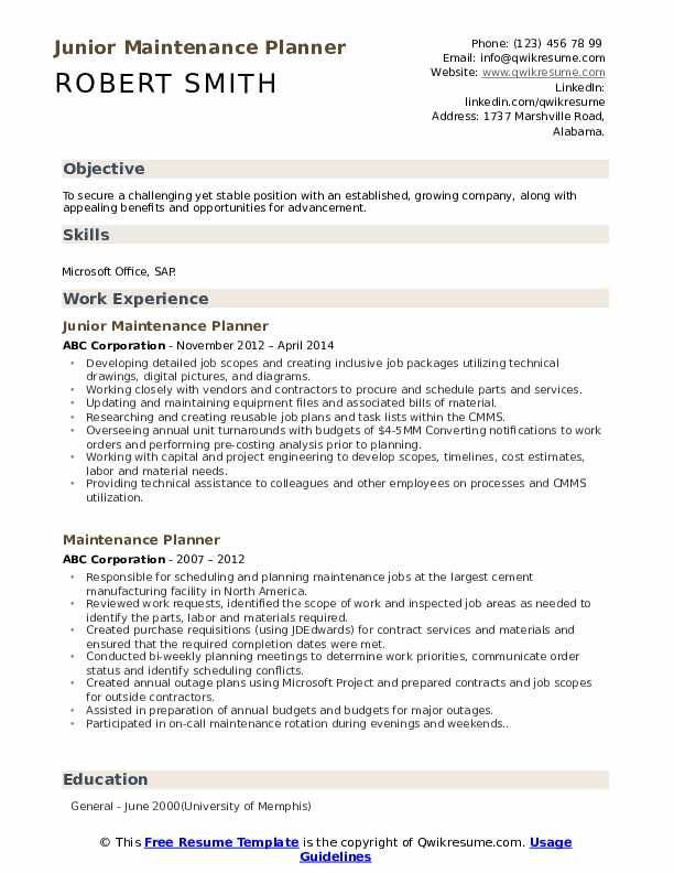 maintenance planner resume samples qwikresume examples pdf technical consultant sample Resume Maintenance Planner Resume Examples
