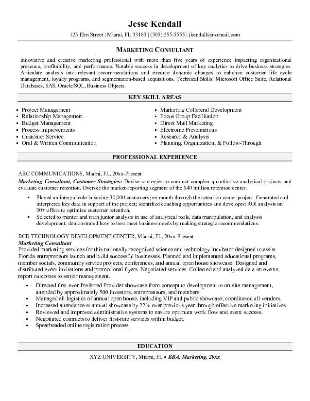 marketing consultant resume job samples sample computer engineering examples gifted and Resume Marketing Consultant Resume