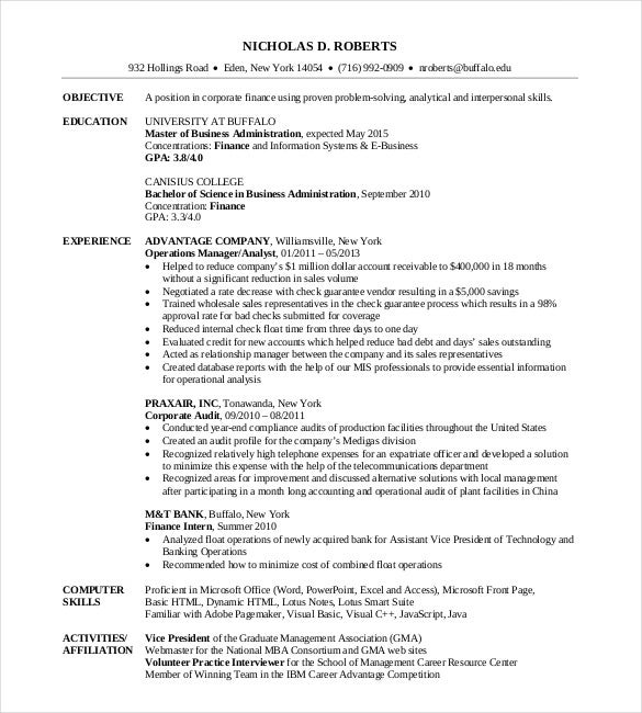 mba resume templates pdf free premium master of business administration on template Resume Master Of Business Administration On Resume