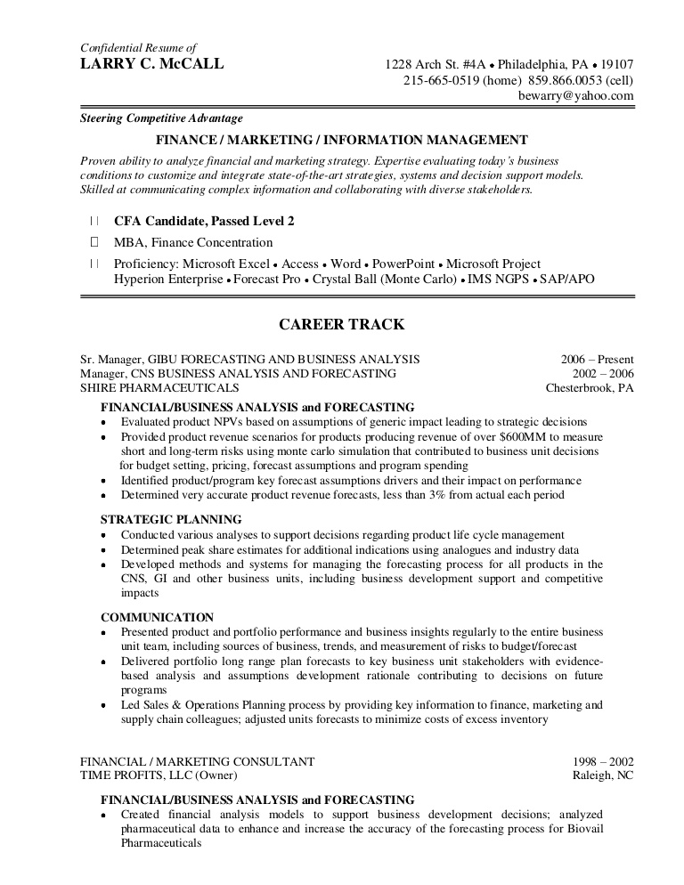 mc call resume finance candidate on lmccallresumefinance phpapp02 thumbnail oil and gas Resume Cfa Candidate On Resume
