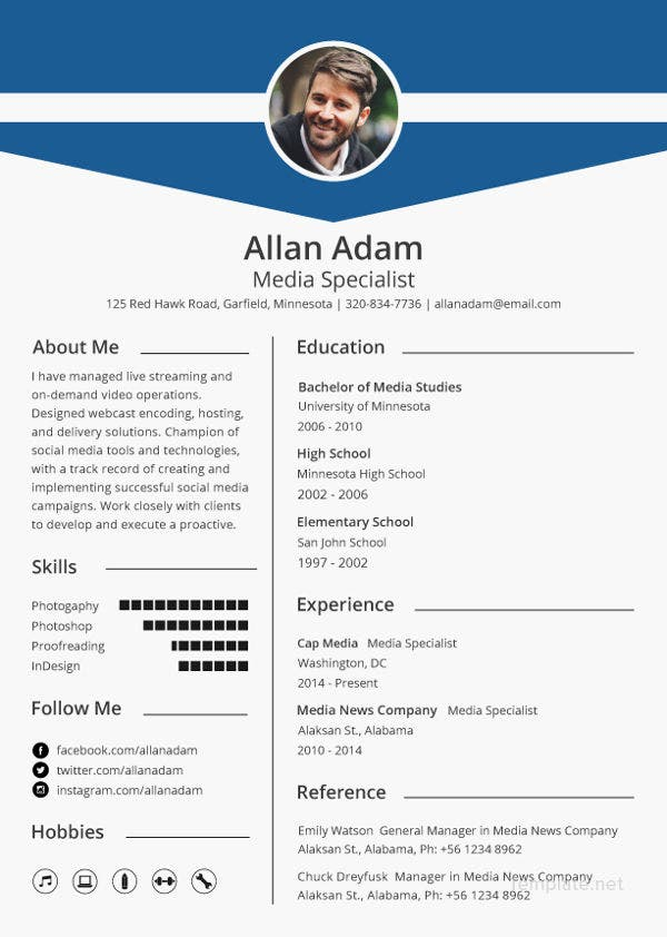 media resume template free samples examples format premium templates editor critical Resume Resume Template Video Editor