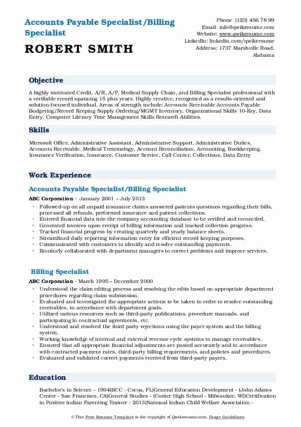 medical billing resume examples elfaro specialist beautiful samples of good self Resume Medical Billing Specialist Resume