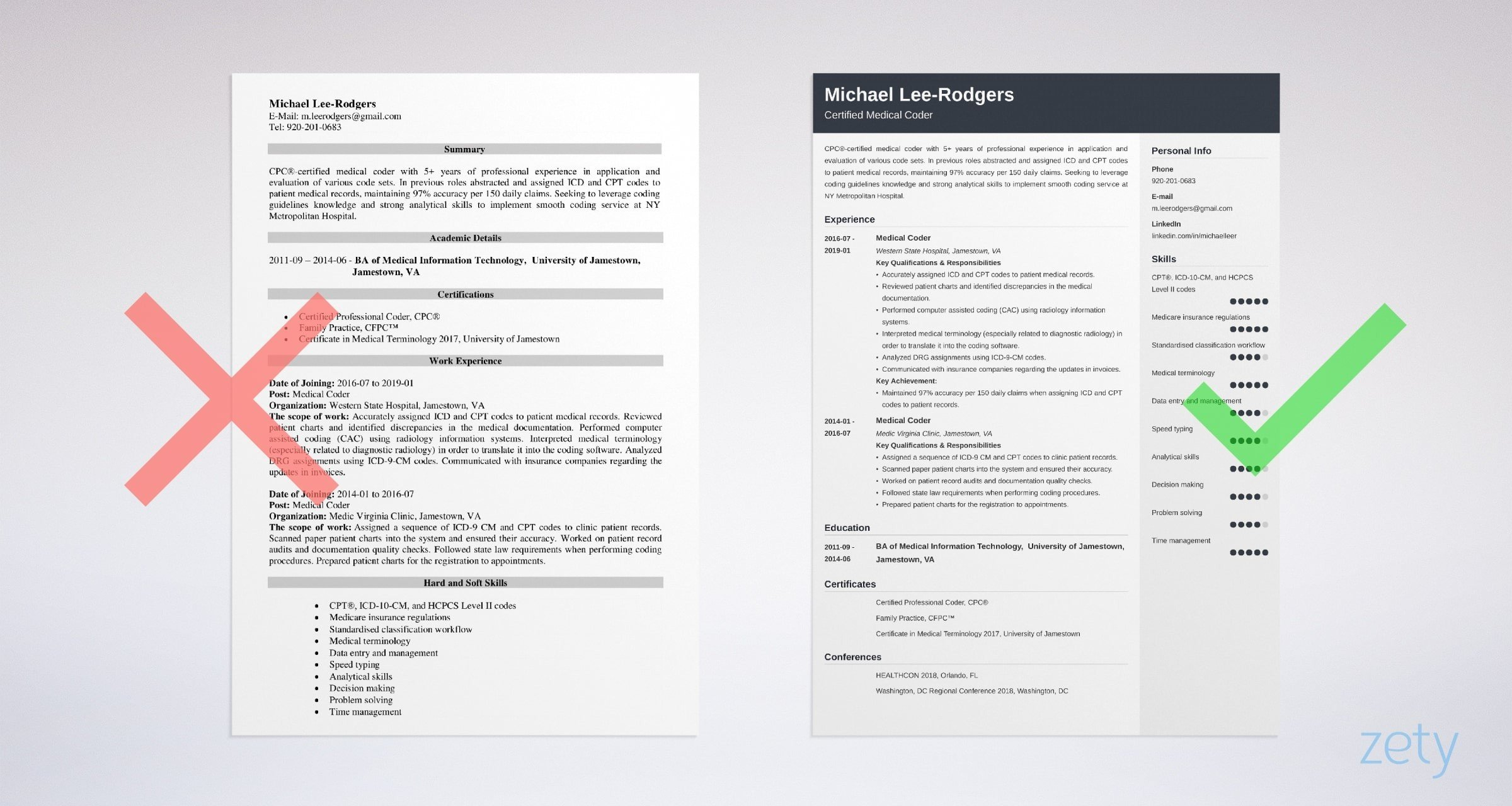 medical coder resume sample guide tips coding experience example machine operator duties Resume Medical Coding Experience Resume