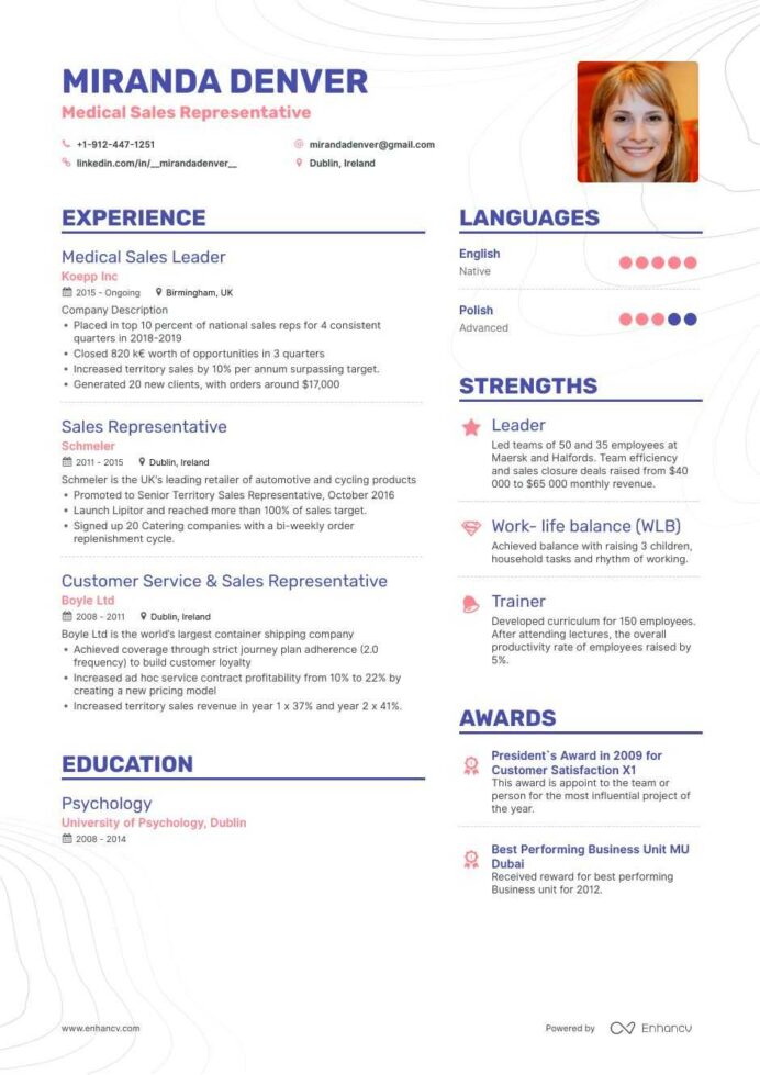 medical resume examples skills templates more for rep tableau architect fitness trainer Resume Medical Sales Rep Resume Examples
