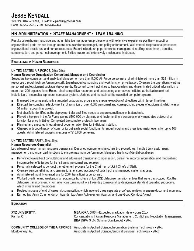 military resume template microsoft word luxury leadership examples human resources Resume Military Resume Examples 2020