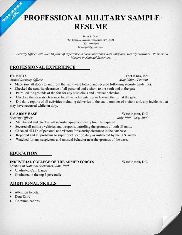 military resume writing tips templates examples sample cover letter for on the go retail Resume Military Resume Examples 2020
