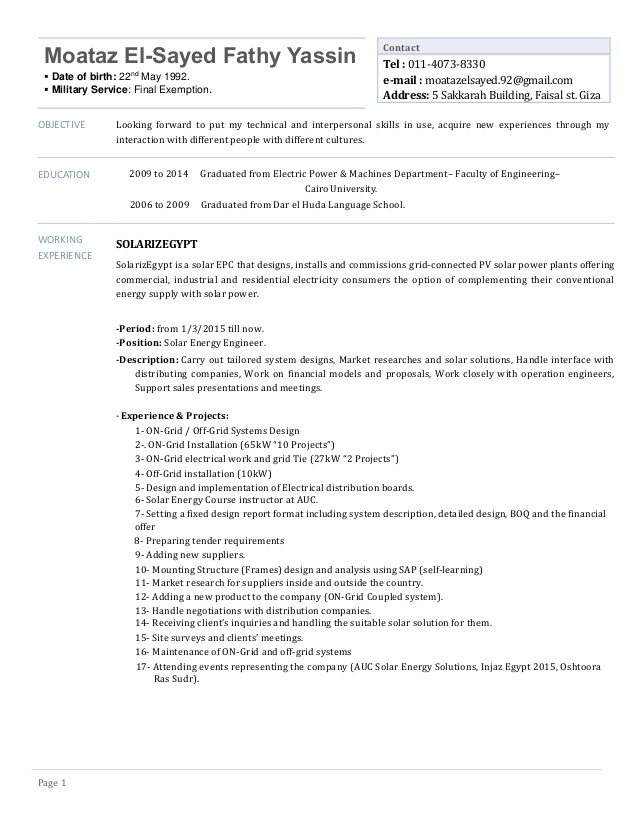 moataz yassin cv solar energy engineer resume of draftsperson sample entry level dental Resume Resume Of Solar Engineer