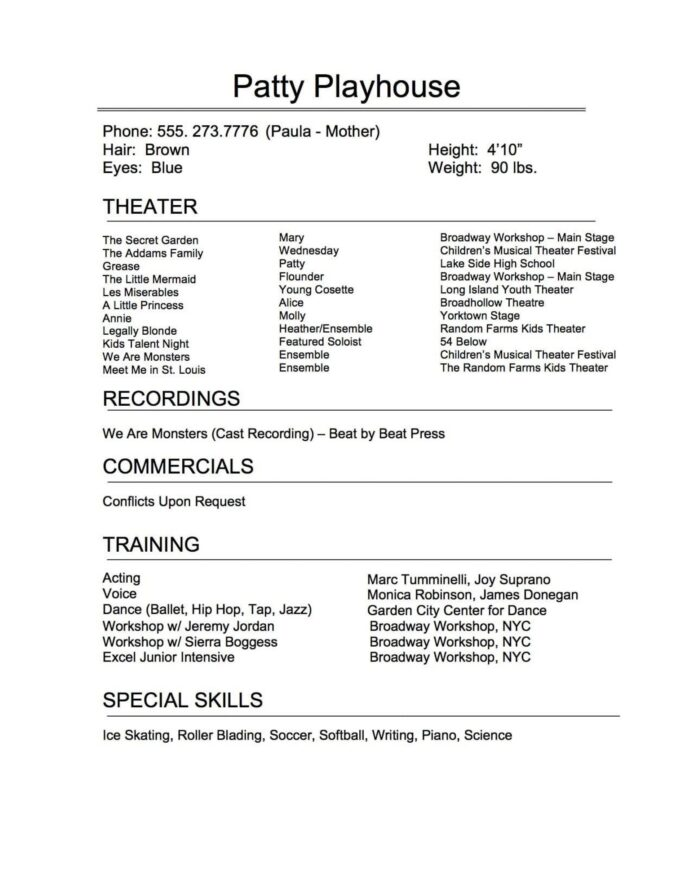 musical theatre resume template addictionary astounding highest quality occupational Resume Technical Theatre Resume Template