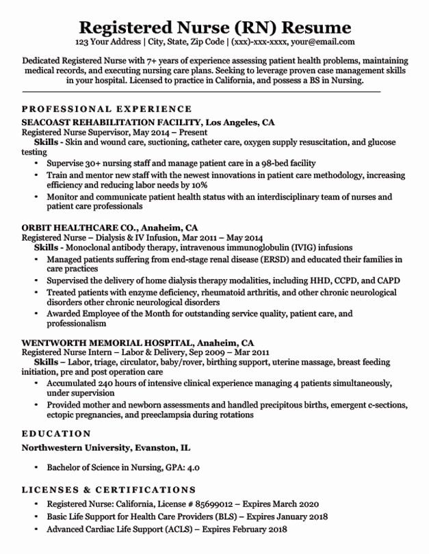 nursing resume examples with clinical experience beautiful registered nurse rn sample Resume Registered Nurse Nursing Resume Examples