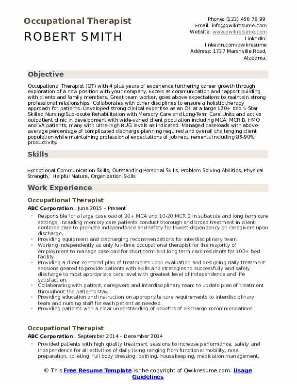 occupational therapist resume samples qwikresume therapy examples pdf when does the ncaa Resume Occupational Therapy Resume Examples