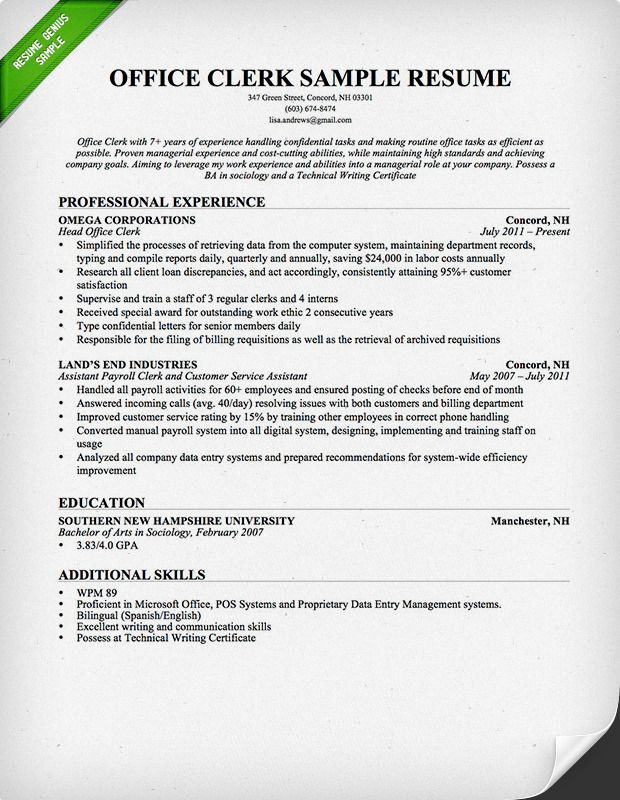 office worker resume sample genius administrative assistant examples experience Resume Office Experience Resume