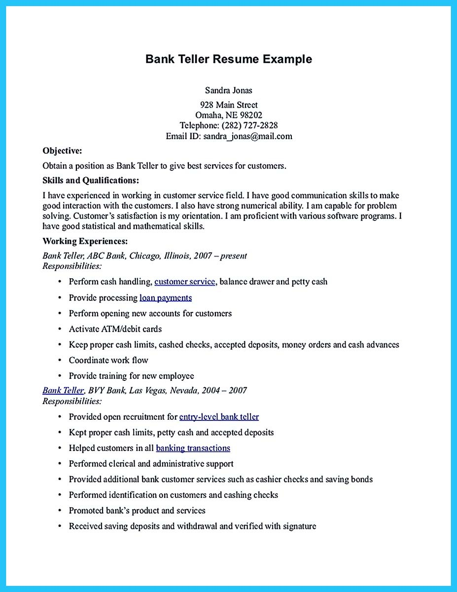 one of recommended banking resume examples to learn objective samples and bank example Resume Banking Resume Objective