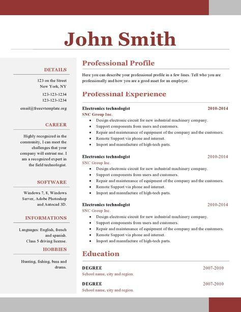 one resume template free downloadable student for high school first job experienced Resume One Page Student Resume