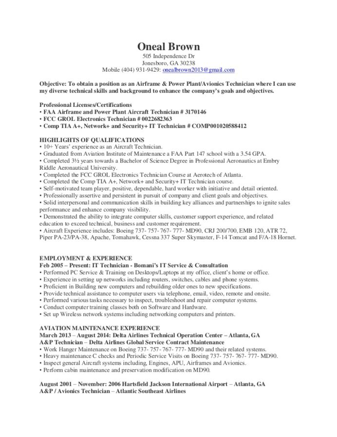oneal and avionics technician resume objective thumbnail ideas for administrative Resume Avionics Resume Objective