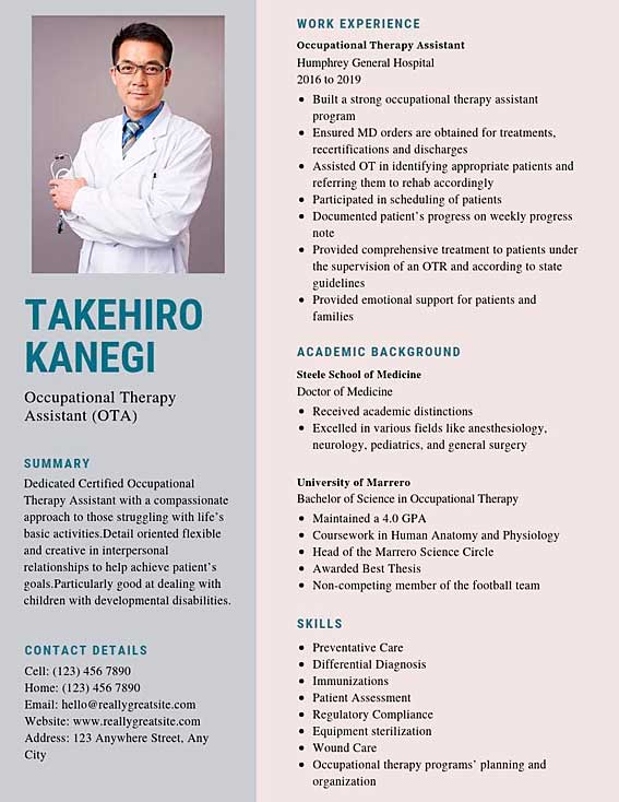 ota resume samples and tips pdf templates occupational therapy assistant resumes bot Resume Occupational Therapy Resume Examples