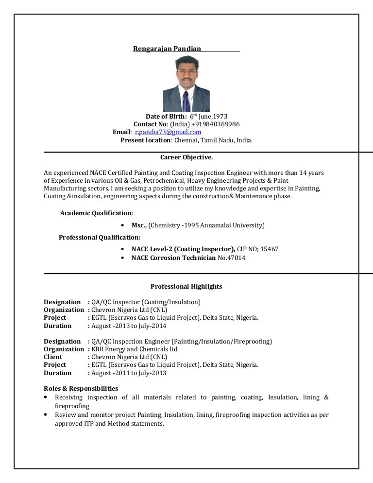 pandian qc inspector painting coating resume conversion gate02 thumbnail entertainment Resume Coating Inspector Resume