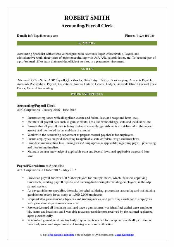 payroll clerk resume samples qwikresume duties and responsibilities pdf pharmacist Resume Payroll Duties And Responsibilities Resume