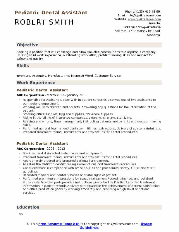 pediatric dental assistant resume samples qwikresume pdf military examples another word Resume Pediatric Dental Assistant Resume