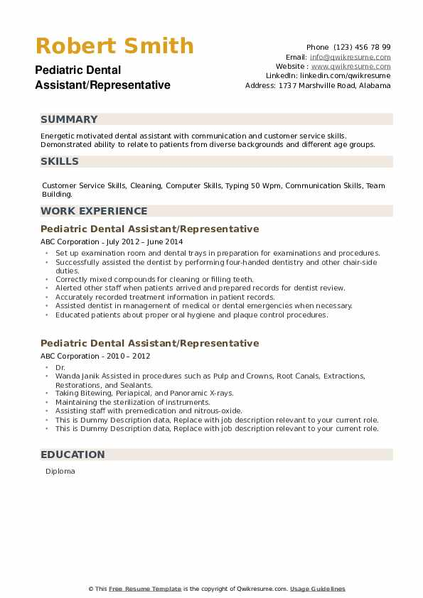 pediatric dental assistant resume samples qwikresume pdf night auditor duties cover Resume Pediatric Dental Assistant Resume